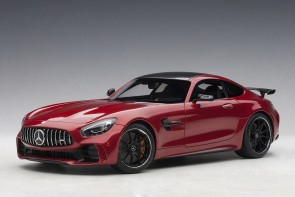 Red Mercedes AMG GT R Designo Cardinal Red Metallic AUTOart 76331 scale 1:18