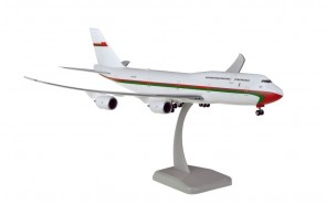 Royal Flight of Oman Boeing 747-8i with gears & stand Hogan HG11625G scale 1:200