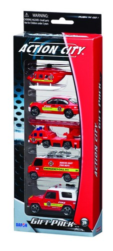 Fire Department of New York (FDNY) 5 Piece Vehicle Gift Pack RT38872F