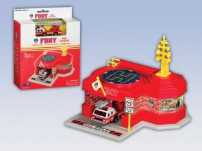 Fire Department of New York (FDNY) Mini Fire Station w/ 1 Vehicle RT8720