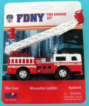 Fire Department of New York (FDNY) Ladder Truck Playset RT8790