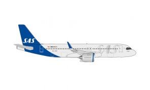 "SAS Scandinavian Airbus A320neo SE-ROK ""Kraka"" Herpa Wings 534963 scale 1:500"