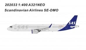 SAS Scandinavian Airbus A321neo SE-DMOdie-cast Panda Model 202033 scale 1:400