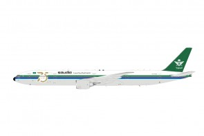 Saudia Boeing 777-368/ER HZ-AK28 75 years anniversary with stand Saudi Arabian Airlines die cast by InFlight IF773SV1121 scale 1:200