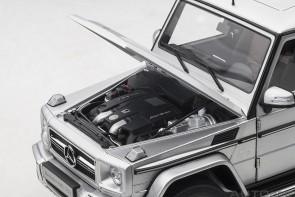Silver Mercedes G63 2017 AUTOart die-cast model 76323 scale 1:18