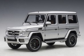 Silver Mercedes G63 2017 AUTOart die-cast model 76323 scale 1:18