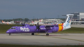 Flybe New Livery Bombardier Q400 G-JECY SKR803 by Skymarks Scale 1:100