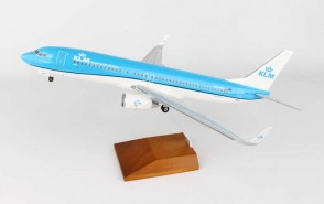 KLM Airlines 737-800 with Wood stand and Gears Skymarks Supreme SKR8251 Scale 1:100