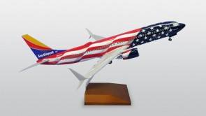 Southwest airlines Freedom One Boeing 737-800 scimitars N500WR With wood stand & Gears Skymarks Supreme SKR8288 scale 1:100