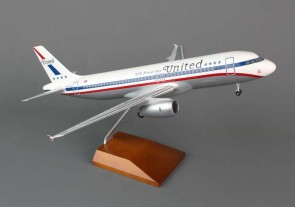 United Friendship A320 W/Wood Stand & Gear SKR8318 by Skymarks 1:100