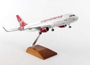 Virgin America Airbus A320 Wood Stand & Gear Skymarks Supreme SKR8325 Scale 1:100