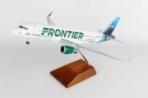 Frontier Airbus A320 sharklets Hugh the Manatee Wood Stand Skymarks Supreme SKR8328 Scale 1:100