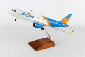 Allegiant Airbus A320 with wood stand and gears Skymarks SKR8329 1:100