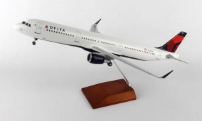 Delta Airbus A321 With Wood Stand Skymarks Supreme SKR8407 1:100