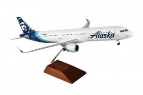 Alaska Airbus A321neo with stand & gears Skymarks Supreme SKR8420 scale 1:100