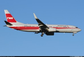 American Boeing 737-800 Winglets Reg# N915NN TWA Retro SKR897 1:130