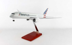New Mould! American Boeing 787-9 Dreamliner Wood Stand & Gears Skymarks Supreme SKR9001 Scale 1:100