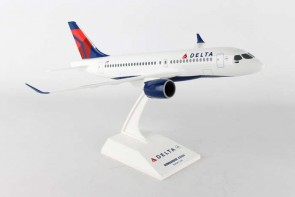 Delta Airlines CS100 Bombardier With Stand Skymarks SKR914 Scale 1:100