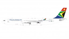 South African Airways Airbus A340-200 ZS-SLA with stand InFlight IF342SAA07 scale 1:200