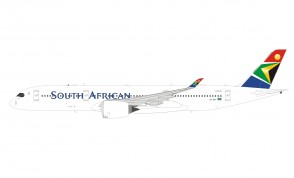 South African Airways Airbus A350-941 ZS-SDF plus stand Inflight IF359SAA05 scale 1:200