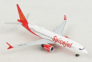 "Spicejet Boeing 737Max8 ""King Chilli"" VT-MAX Herpa Wings 533638 scale 1:500"