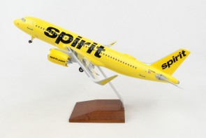 Spirit Yellow A320neo N320NK stand &gear Skymarks Supreme SKR8369 scale 1:100