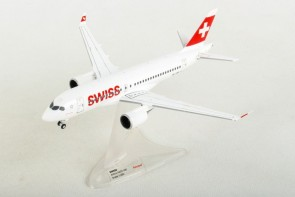Swiss Airbus A220-100 (Bombardier CS100) HB-JBB Herpa 558471-001 Scale 1:200