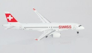 "Swiss International Airbus A220-300 HB-JCL ""Winterthur"" Herpa 562614-001 scale 1:400"