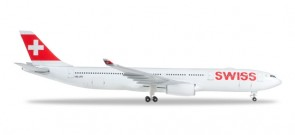 Swiss International Airbus A330-300 HB-JHI Herpa 523134-003 scale 1:500