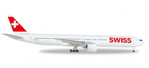 Swiss International Boeing 777-300ER HB-JNJ Herpa 529136-002 Scale 1:500