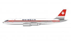 Swissair Convair 990A Coronado (30A-6) HB-ICB with stand Inflight/b-models B-990-SR-CB scale 1:200