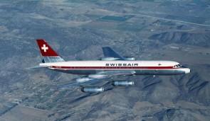 """Swissair """"Coronado"""" Convair CV-990 HB-ICC die-cast Herpa 535168 scale 1:500"""