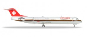 Swissair Fokker F-100 HB-IVA First ever delivered 1988 Herpa 559386 scale 1:200