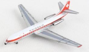 Swissair Sud Aviation SE-210 Caravelle HB-ICS Herpa die-cast 534062 scale 1:500