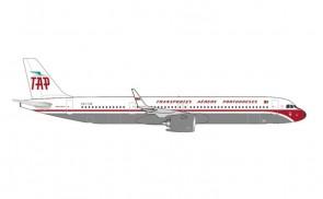 TAP Portugal retro Airbus A321neo CS-TJR Herpa 535373 scale 1:500
