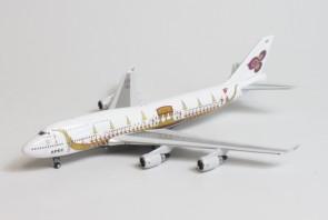 """Thai Airways Royal Barge Boeing 747-400 HS-TGJ """"APEC"""" die-cast 11702 Phoenix scale 1:400"""