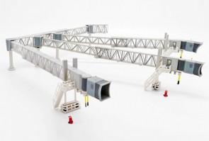 Transparent Airport Passenger Bridge for Airbus A380 JCWings LH2ARBRDG277 scale 1:200