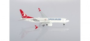 "Turkish Airlines Boeing 737Max8 ""Tokat"" TC-LCA Herpa Wings 533768 scale 1:500"