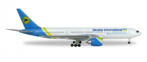 Ukraine International Boeing 777-200 registration UR-GOA Міжнародні Авіалінії України Die-cast Herpa 531122 Scale 1-500
