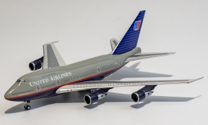 United Airlines Boeing 747SP N145UA battleship grey livery NG Model NG model 07008 scale 1:400