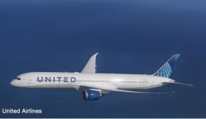 United Airlines Boeing 787-10 New 2019 livery Dreamliner Herpa wings 534321 scale 1:500