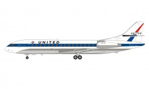 United Airlines Sud SE-210 Caravelle VI-R N1006U with stand Inflight IF210UA1220 scale 1:200