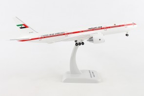 United Arab 777-200 Amiri Flight A6-ALN stand & gears Hogan HG10949G 1:200