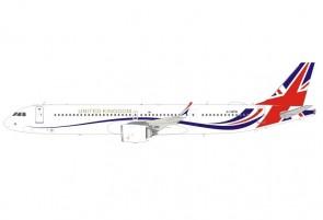 United Kingdom Airbus A321neo G-XATW Panda Model 202111 scale 1:400