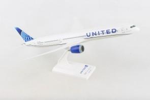 United New Livery Boeing 787-10 N12010 Longest Dreamliner plastic stand Skymarks SKR1050 scale 1:200