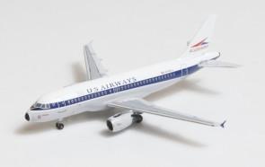 US Airways-Allegheny Heritage livery Airbus A319 N745VJ Big Bird Blue Box BBX41608 scale 1:400