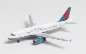 US Airways-America West Heritage livery Airbus A319 N838AW Big Bird Blue Box BBX41610 scale 1:400