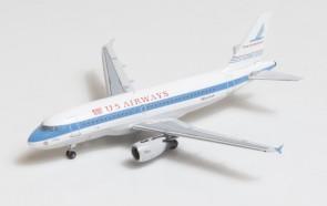 US Airways-Piedmont Heritage livery Airbus A319 N744P Big Bird Blue Box BBX41606 scale 1:400