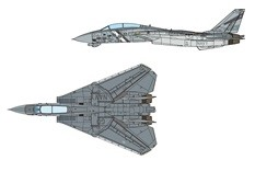 US Navy F-14D Tomcat VF-2 Bounty Hunters 2002 by JC Wings  JCW-72-F14-008 scale 1:72