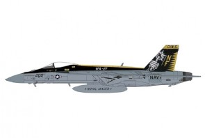 "US Navy F/A-18E Super Hornet VFA-27 ""Royal Maces,"" CVW-5 CAG USS Ronald Reagan Atusgi AB, 2015 Hobby Master HA5125W scale 1:72"